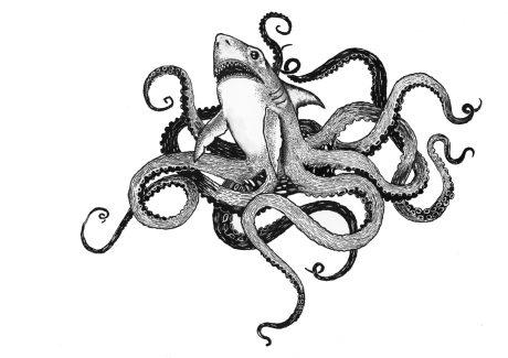 Sharktopus - Tattoo Design