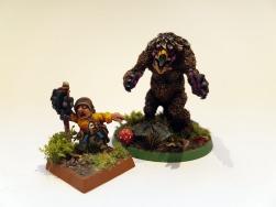 Owlbear & Halfling