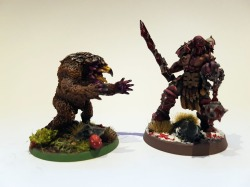 Owlbear with Slaughterpriest