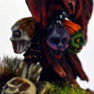 Skeleton Commander - severed heads detail