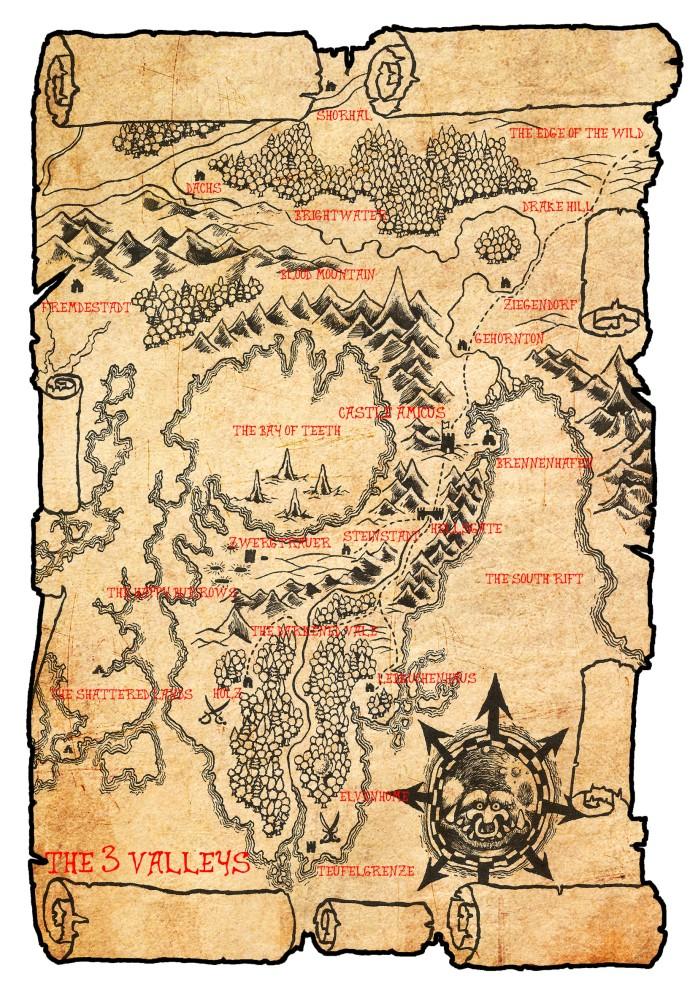 Map of the Three Valleys Region